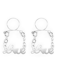 SILVER LOVE NIPPLE JEWELRY