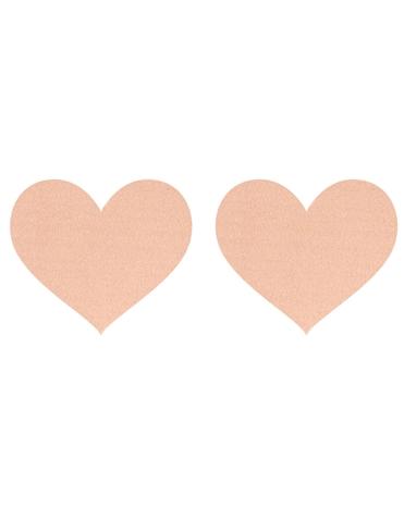 NUDE SATIN HEART PASTIES