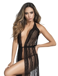 DRAPED IN LACE ROBE