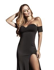 SEXIEST LONG BLACK DRESS