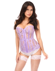 Alternate front view of CINDY LAVENDER CORSET