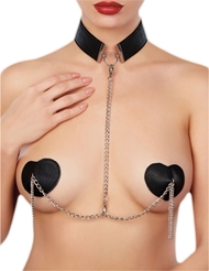 ADORE COLLAR WITH DETACHABLE HEART PASTIES