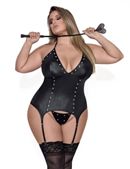 MADAME FAUX LEATHER BUSTIER