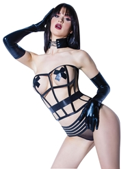 Alternate front view of BONED CAGE CORSET