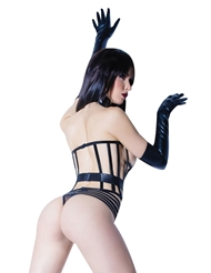 Alternate back view of BONED CAGE CORSET