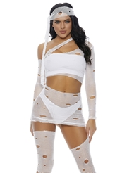 Alternate front view of IT'S A WRAP MUMMY COSTUME
