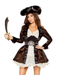 Alternate front view of PIRATE BEAUTY - 5 PIECE COSTUME