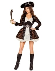 Alternate back view of PIRATE BEAUTY - 5 PIECE COSTUME