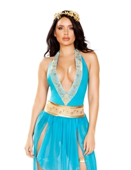 Alternate front view of ATHENA GODDESS - 2 PIECE COSTUME