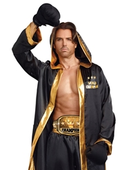 Alternate front view of WORLD CHAMPION BOXER COSTUME - MENS