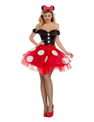 Alternate front view of COQUETTE MOUSE COSTUME