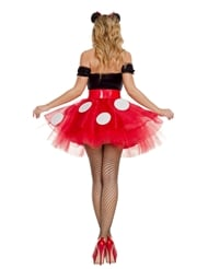Alternate back view of COQUETTE MOUSE COSTUME