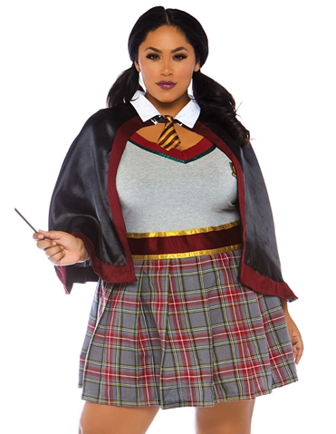 2PC. SPELLBINDING PLUS SIZE SCHOOL GIRL