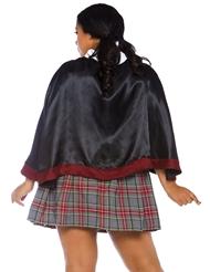 Alternate back view of 2PC. SPELLBINDING PLUS SIZE SCHOOL GIRL
