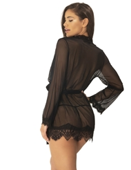 EYELASH LACE ROBE