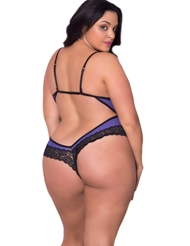 CAGED CUP PLUS SIZE TEDDY