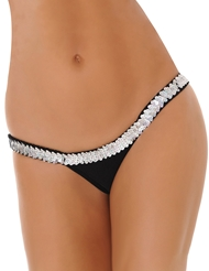 BUTTERFLY THONG WITH SEQUIN TRIM