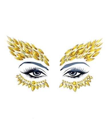 GOLDEN EYE WINGS FACESTIX FACE CRYSTALS