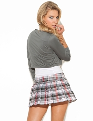Alternate back view of PLUS SIZE QUEEN OF DETENTION
