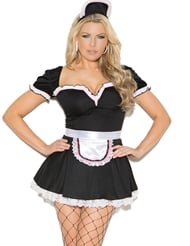 Alternate front view of PLUS SIZE MAID TO PLEASE