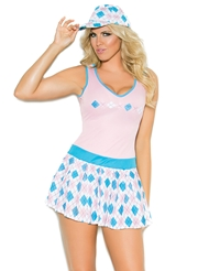 Alternate front view of PLUS SIZE GOLF TEASE