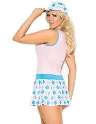 Alternate back view of PLUS SIZE GOLF TEASE
