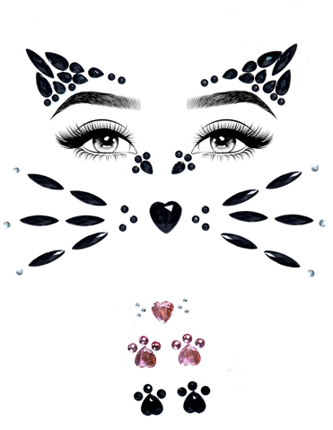 ANIMAL ADHESIVE FACE JEWELS