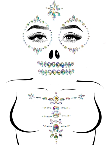SKELETON ADHESIVE FACE JEWELS