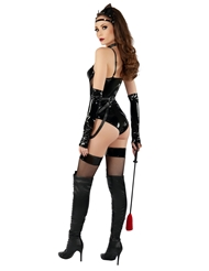 Alternate back view of DOM CAT FISHNET TEDDY