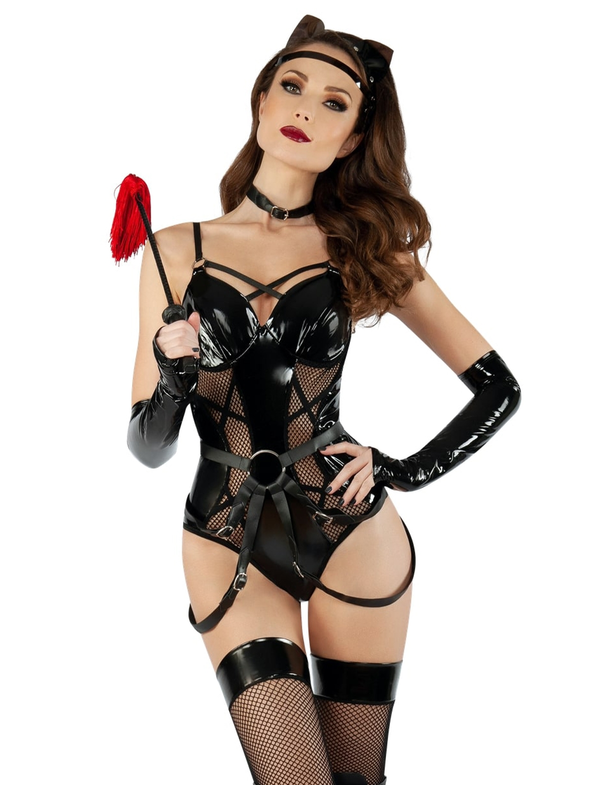 Dom Cat Fishnet Teddy