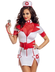 Alternate front view of ZIP UP NURSE DRESS