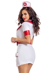 Alternate back view of ZIP UP NURSE DRESS