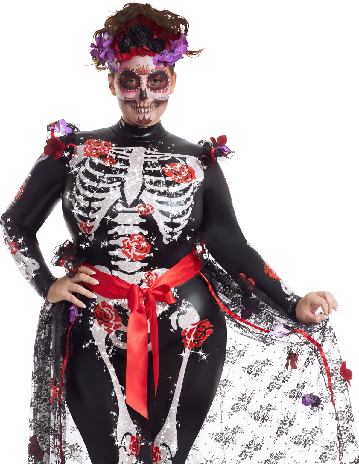 Rosas Plus Size Day Of The Dead