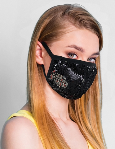 SEQUIN FACE MASK - MANY COLORS