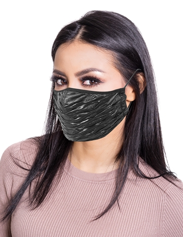 SHINY RIBBED FACE MASK
