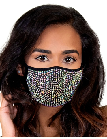 ZURI RHINESTON FACE MASK