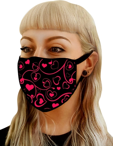 HEART PRINT WASHABLE MASK