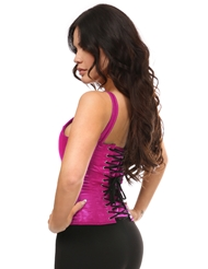 Alternate back view of PINK EMPIRE PLUS SIZE CORSET