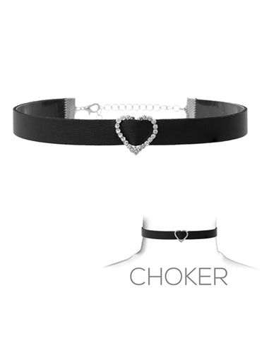 HEART BUCKLE CHOKER