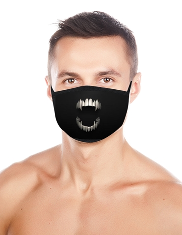 SCARY MOUTH FACE MASK FOR MEN