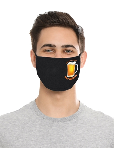 WILL ONLY REMOVE FOR BEER MASK
