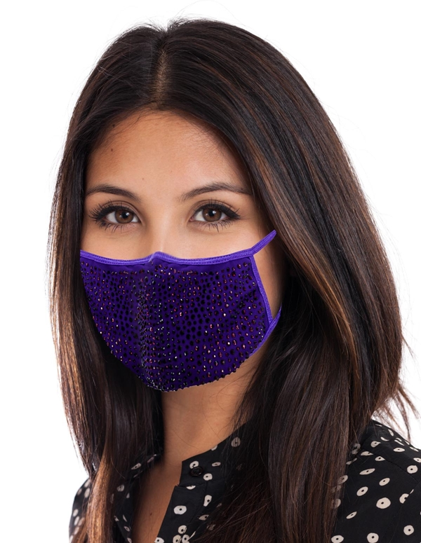 Handmade 100% organic cotton lace face mask with filter