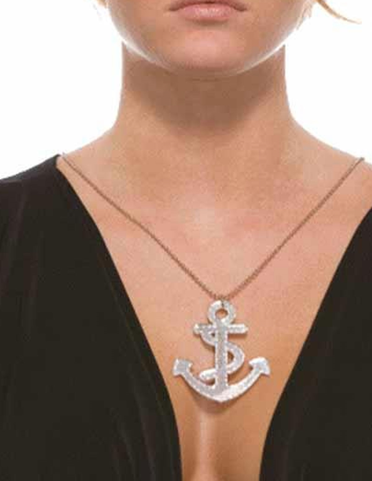 Mirrored Anchor Necklace