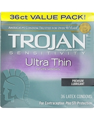 TROJAN ULTRA THIN CONDOMS 36PK