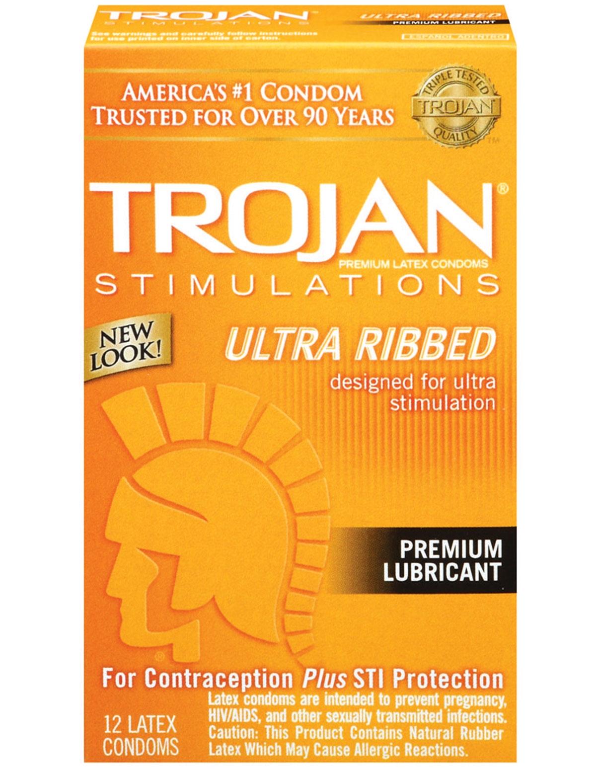 Trojan Ultra Ribbed 12 Pk