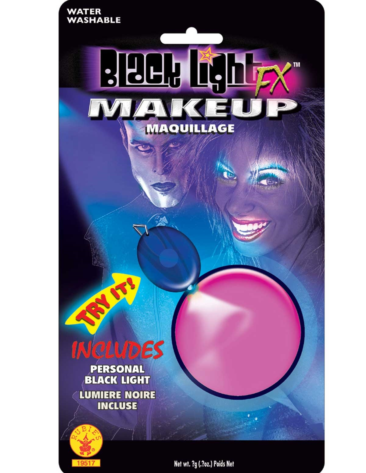 Black Light Make-Up Pink