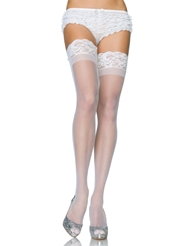 Alternate front view of LACE TOP STAY UP THIGH HIGHS