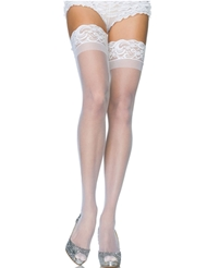 Alternate front view of LACE TOP STAY UP THIGH HIGH