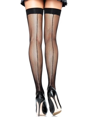 FISHNET THIGH HIGH W/BACKSEAM