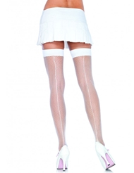 Alternate front view of FISHNET THIGH HIGH W/BACKSEAM